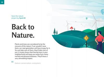 Eco-friendly Environment Illustration