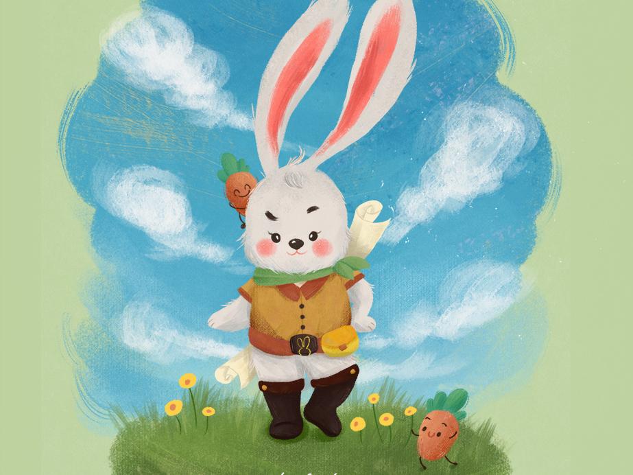 Courage Rabbit rabbit cute child illustration illustration
