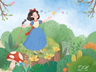 Princess is singing