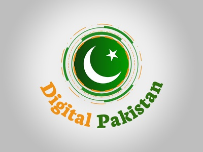 Digital Pakistan Logo branding effect logodesign design logo vector