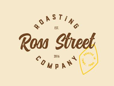 Vintage roasting logo