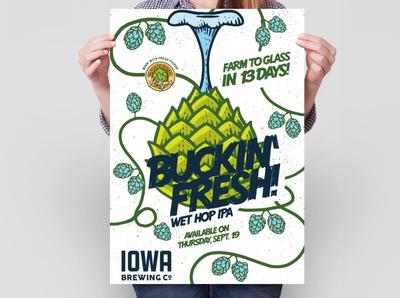 Buckin' Fresh Wet Hop IPA Poster