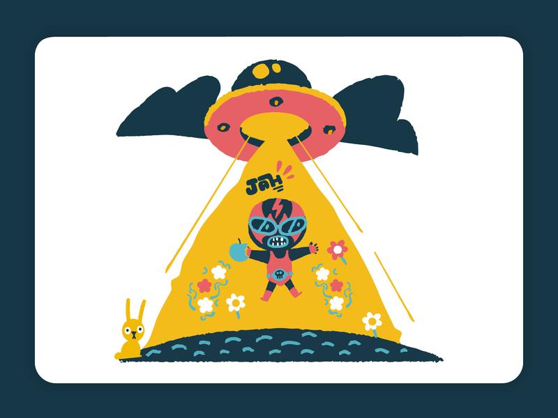 Uploading Flamenco Illustration flower summer cloud rabbit apple wrestling ufo ux ui flat vector design illustration illustrator
