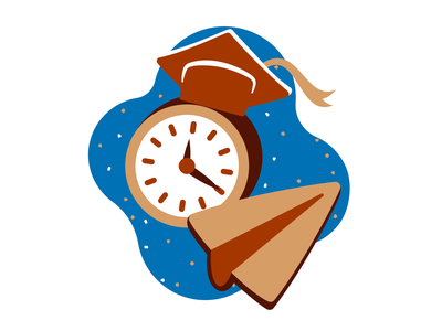 Training school plane paperplane paper night clock time animation design aftereffects illustration animated motion ux ui vector illustrator