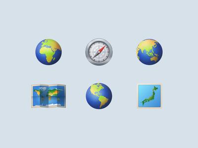 Icons8 Emoji Travel & Places