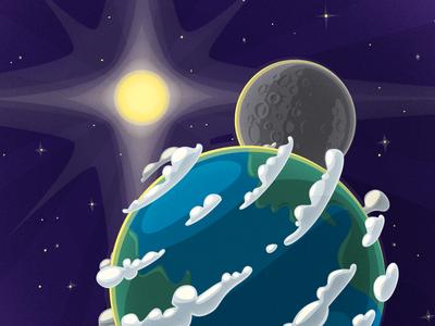 Earth Illustration for Kids App