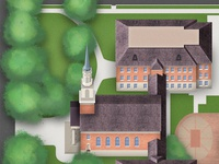 Campus Map Concept Illustration