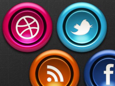 Arcade Button 2 photoshop button arcade vector layer styles dribbble twitter rss facebook