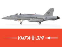 VMFA 314 Black Knight F18 A+ Hornet