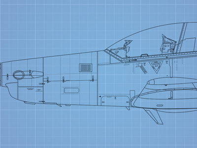 Pilatus PC-9M (WIP) aircraft airplane plane fighter pilot aviation flight profile line drawing blueprint illustrator aeroplane