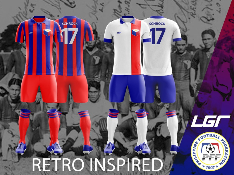 Philippines National Football Team 2020-21 Retro Inspired Kit sports branding football kit football jersey