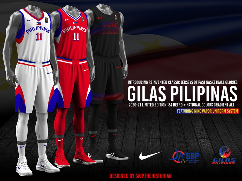 2020-21 Gilas Pilipinas Retro Nike Jerseys #3 sports branding branding jersey design basketball jerseys