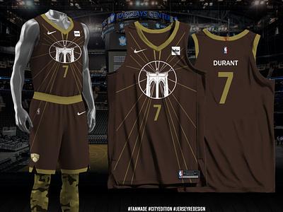 "Brooklyn Nets City-Edition 2020-21 ""Fan-Made"" sports branding city edition nba jersey redesign brooklyn nets"