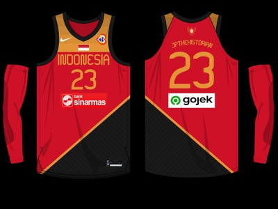 Indonesia Jersey - 2023 FIBA World Cup sports branding jersey design basketball jersey