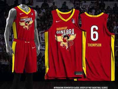 Ginebra Fauxback Jersey basketball jersey jersey design sports branding ginebra san miguel barangay ginebra