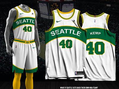 Seattle Supersonics - 2021-22 Association Edition association edition fan made jersey design nba seattle supersonics