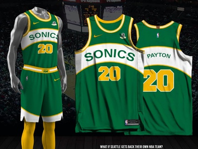 Seattle Supersonics - 2021-22 Icon Edition icon edition fan made jersey design nba seattle supersonics