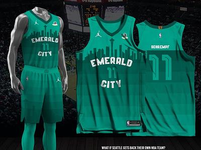 Seattle Supersonics - 2021-22 City Edition city edition fan made jersey design nba seattle supersonics