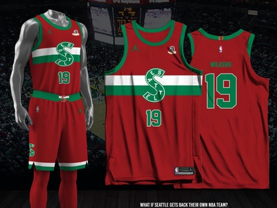 Seattle Supersonics - 2021-22 Earned Edition earned edition fan made jersey design nba seattle supersonics
