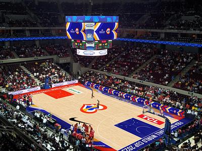 FIBA World Cup 2023 Arena Floor Design basketball court sports branding arena floor