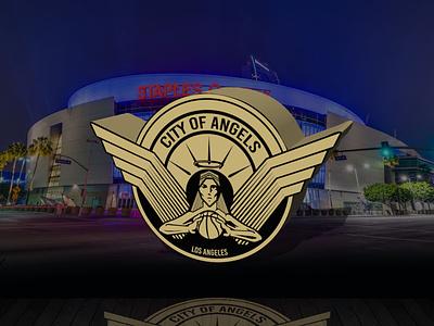 "Los Angeles Lakers ""City of Angels"" City Edition Logo sports branding logo design"