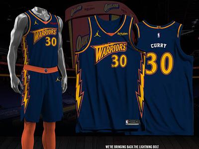Golden State Warriors - Icon - Lightning Bolt jersey design basketball jersey