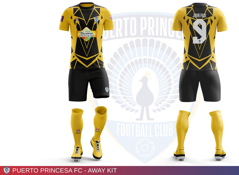 Puerto Princesa FC - Away Kit football club sports branding soccer jersey soccer kit football jersey football kit