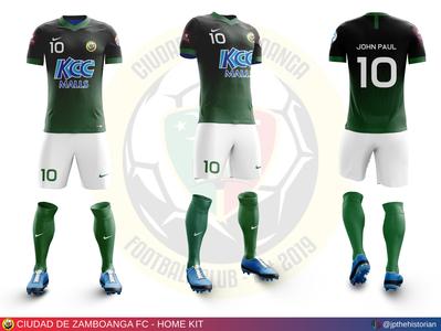 Ciudad de Zamboanga FC - Home Kit jersey design kit design sports branding soccer jersey soccer kit football jersey football kit football club