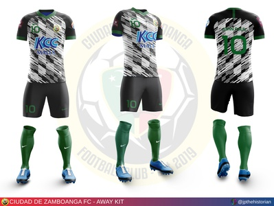 Ciudad de Zamboanga FC - Away Kit kit design jersey design sports branding soccer jersey soccer kit football jersey football kit football club