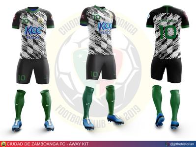 Ciudad de Zamboanga FC - Away Kit kit design jersey design sports branding soccer jersey soccer kit football jersey football kit football club