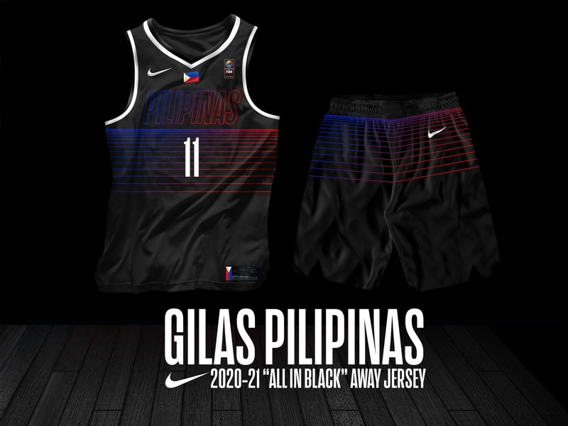 "Gilas Pilipinas ""All in Black"" Jersey sports branding gilas pilipinas jersey design basketball jersey"