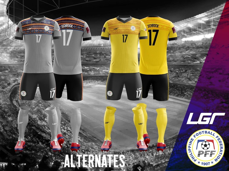 Philippines National Football Team 2020-21 Alternate Kit sports branding football jersey football kit