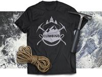 climbing t-shirt design