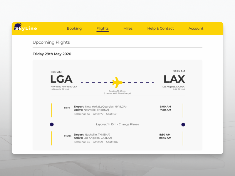 Daily UI #024 ui design blue yellow website design flight booking boarding pass daily ui 024 daily ui challenge