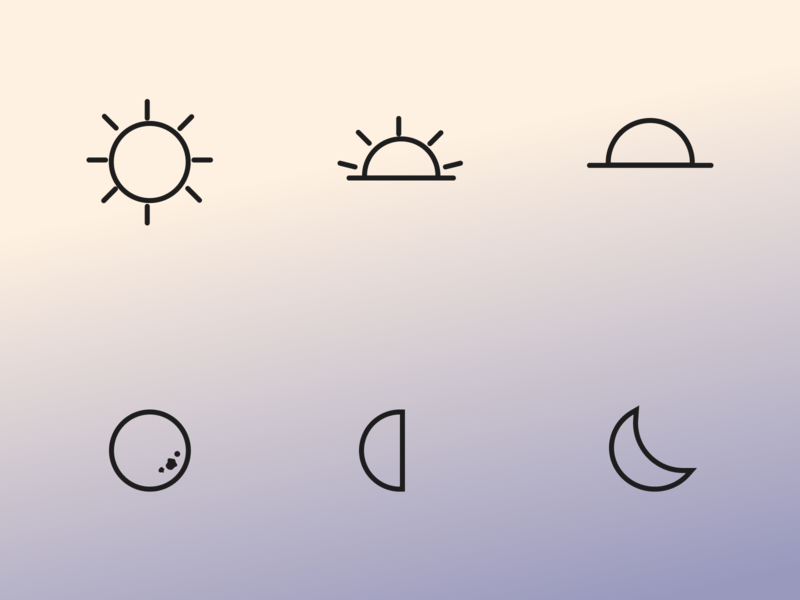 Daily UI #055 moon sun celestial icon design icon set daily ui 055 daily ui challenge