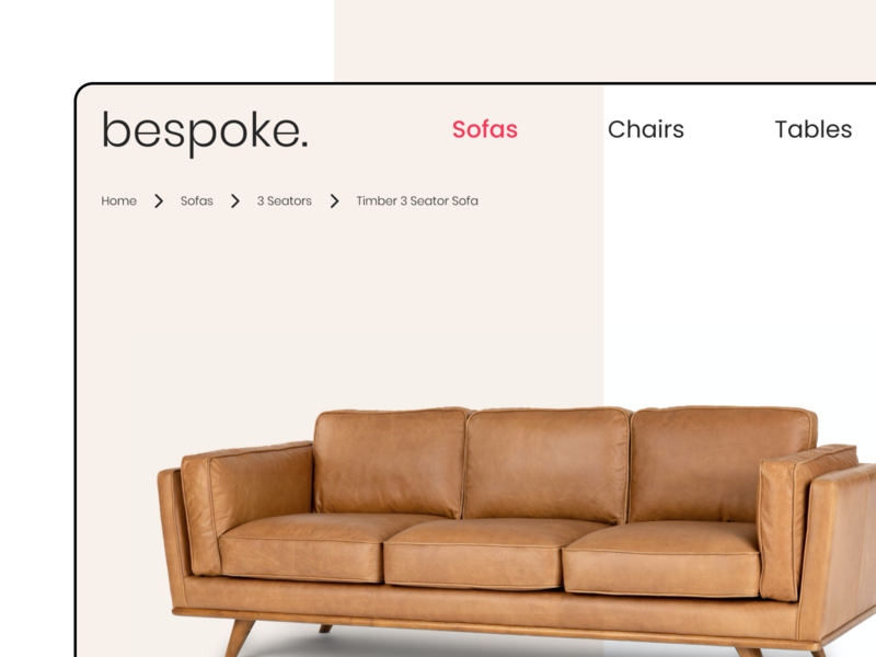 Daily UI #56 ui design sofa furniture detail furniture website ecommerce brown couch article website design breadcrumbs daily ui 056 daily ui challenge