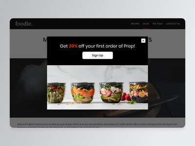 Daily UI #098 advertising advertise popup website design ui design food and drink advert advertisement daily ui 098 daily ui challenge