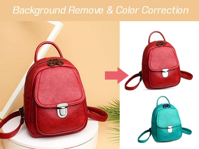 Background remove & color correction bag pack paths rabbidesigner color correction packaging path background remove banner brand identity graphic  design branding