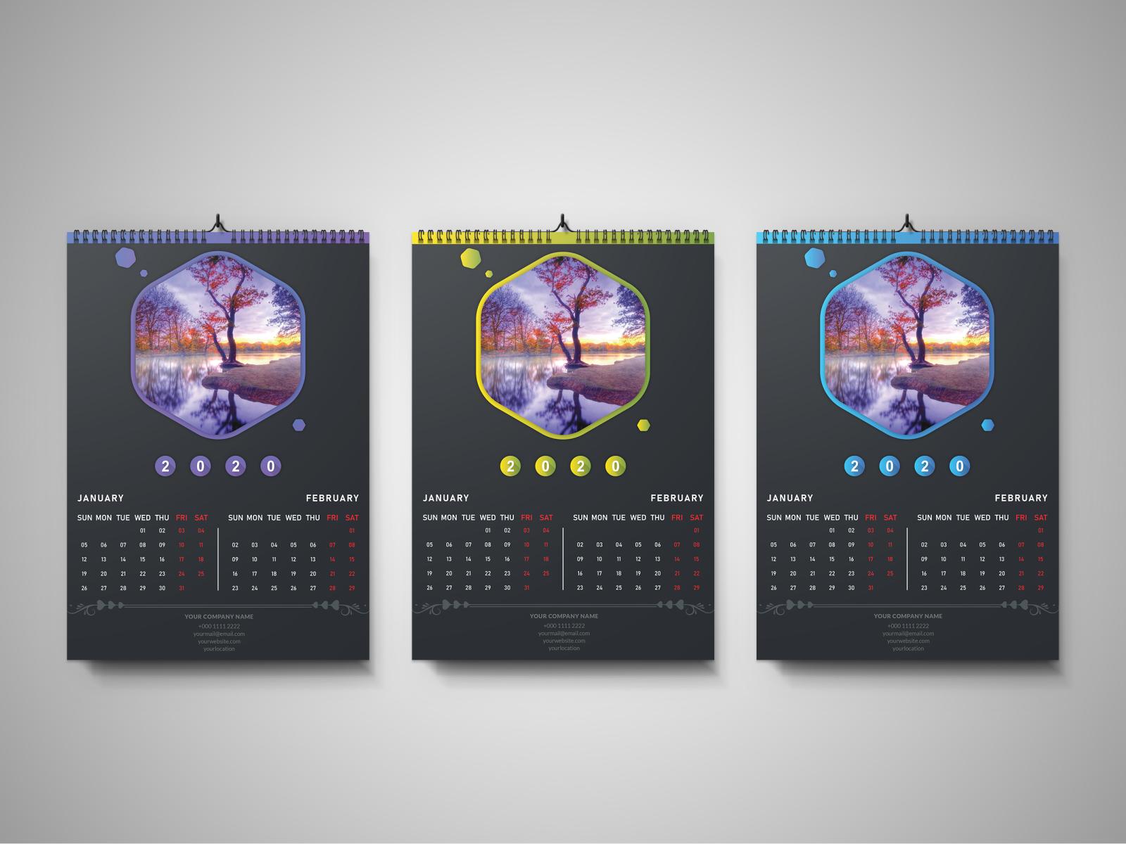 Ut Austin Calendar Spring 2020.Wall Calendar 2020 By Fazle Rabbi On Dribbble