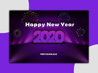 Happy New Year 2020 Template