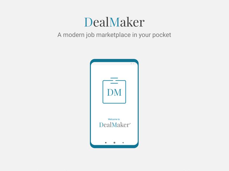 DealMaker - a mobile job marketplace app design figma work messenger deal marketplace job freelance design uiux android app mobile