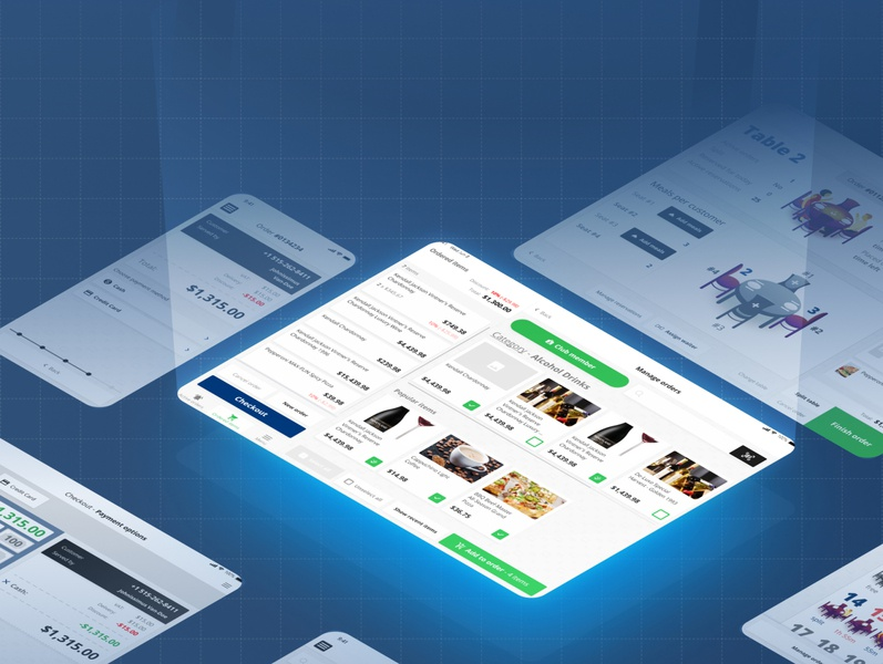 UPOS - A simple point of sale app design vector ux ui restaurant pos mobile ios illustration figma design branding