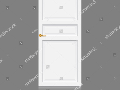 White Inner Door Vector Art wood building door top rail blank assemble white earth slide lock cross