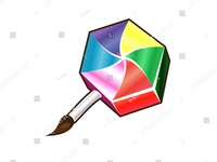 Colorful Candy Nail Brush Vector Art