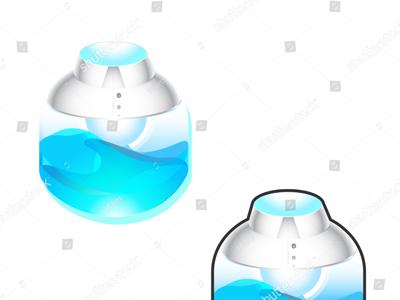 Energy Bulb For Growth in Life & Career Vector Art life bulb flow liquid collar white grow succeed shirt handshake shine way