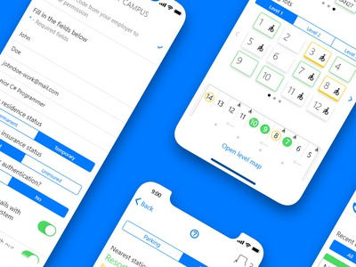 SmartCampus - UX/UI Project, Mar 19' interface os blue preview live uxdesign ux uidesign ui prototype premierepro adobexd mobile ios agency smart campus