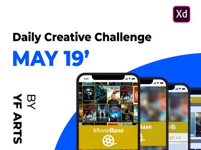 [v0.5] MovieBase - Behance Daily Creative Challenge, May 19' v0.5 auto-animate flat player watch movie prototype ui mobile ios xddailychallenge