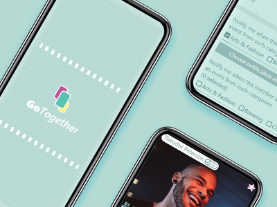 GoTogether - UI Concept, Jul 19' prototype material ux ui meetup meeting meet go together ios agency adobexd