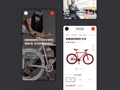 Martone Cycling - Mobile Option shopify ecommerce shop store bike luxury fashion black interface website web concept ux ui