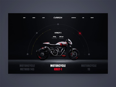 Arch Motorcycles website web ux ui bike minimal interaction grid car motorcycles e-commerce black